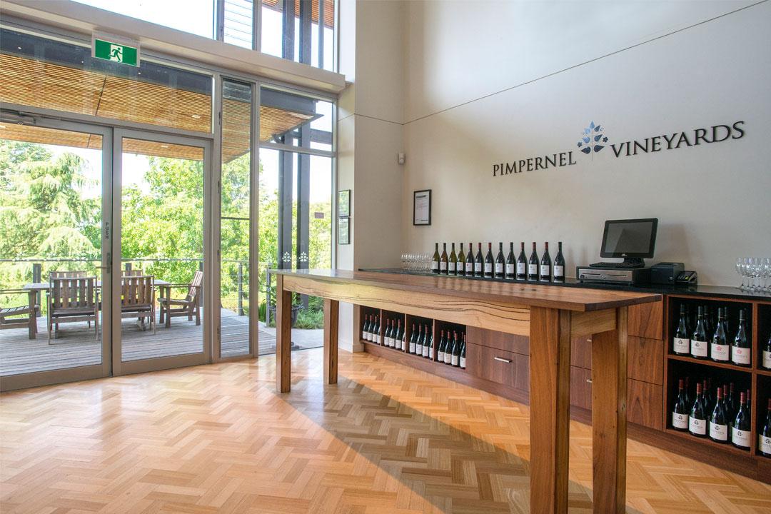 Pimpernel Vineyards cellar door wine store