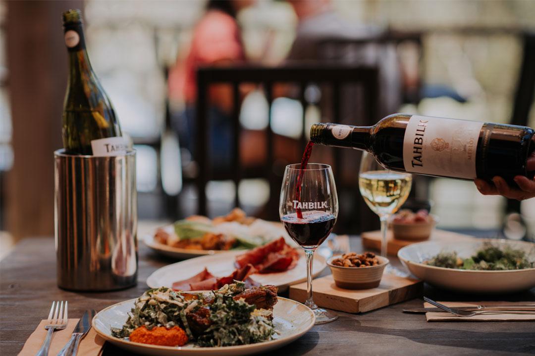 Tahbilk Wines winery restaurant in Tahbilk