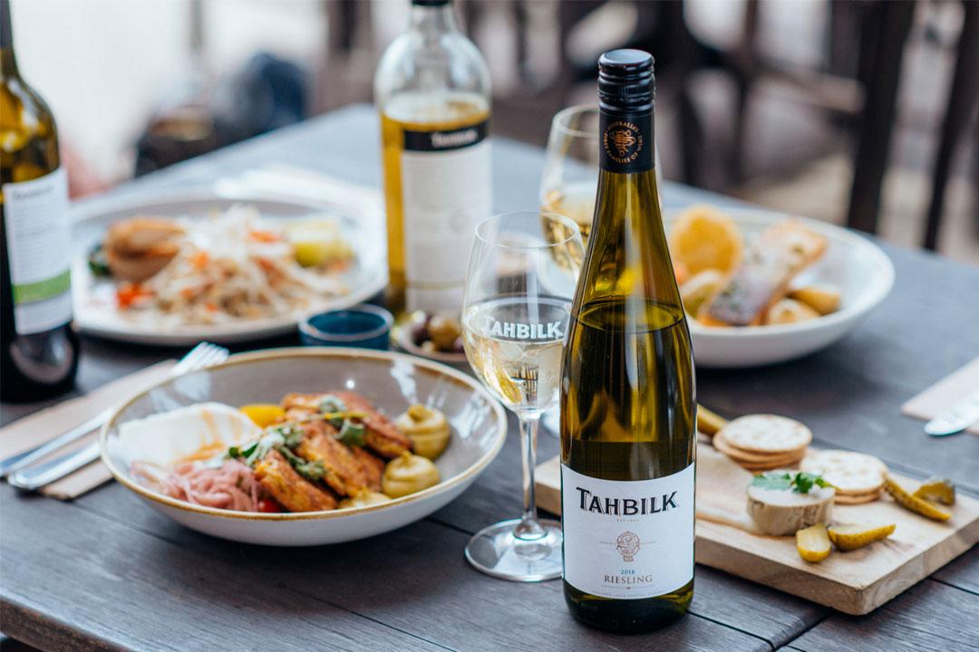Tahbilk Wines winery restaurant menu