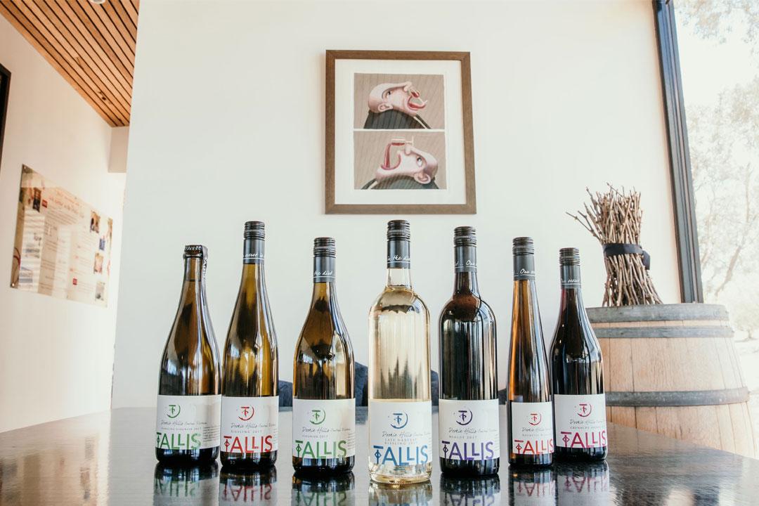 Tallis Wine Goulburn Valley winery bog˘azkere wine Tesla charge port wine tasting vineyard