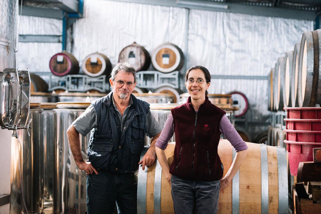 Anderson Winery Howard & Christobelle Anderson wine barrels
