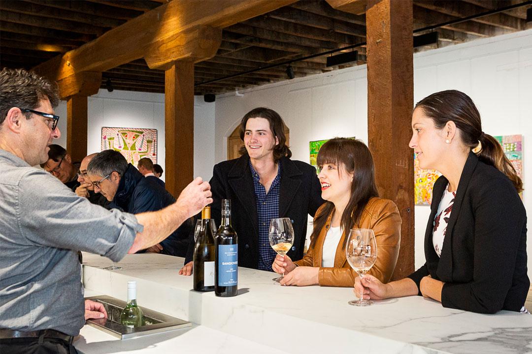 Rutherglen Estates cellar door guests tasting wine