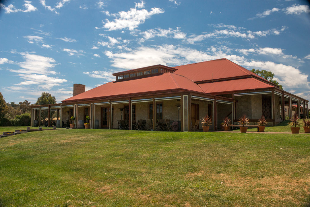 Sutton Grange cellar door red roof verandah