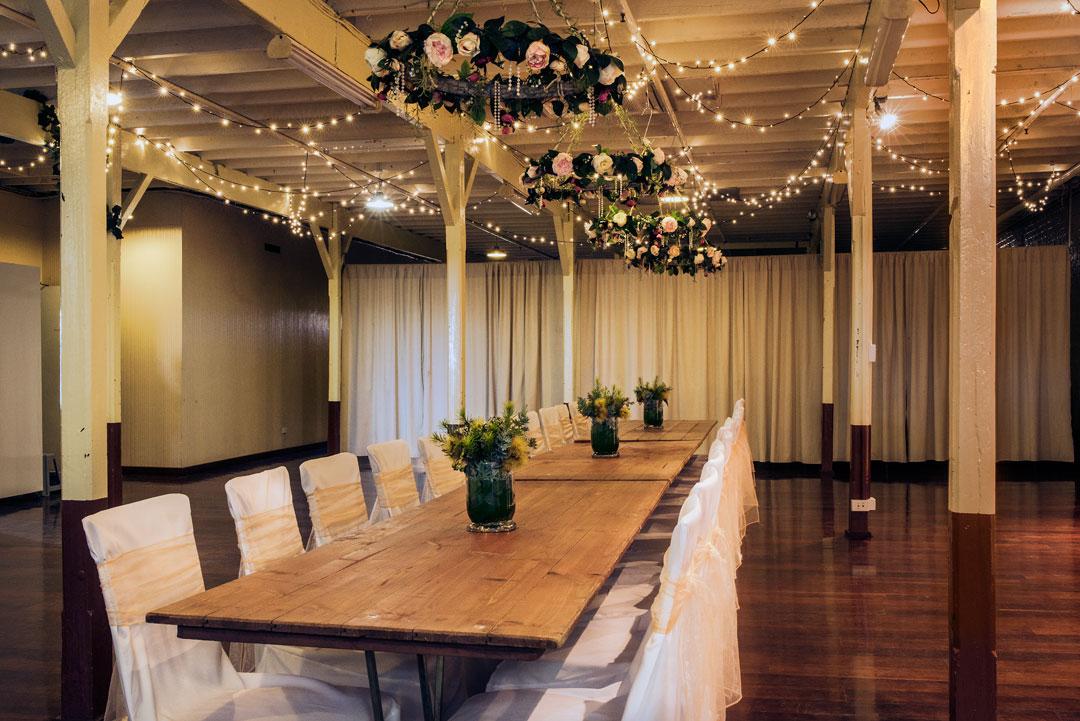 Seppelt function room fairy lights