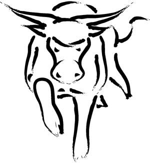 Wild Cattle Creek Estate bull drawing logo