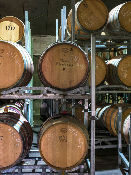 del Rios of Mt Anakie wine barrel storage
